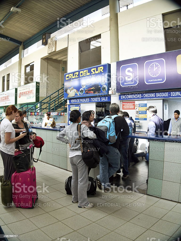 Bus station at Arequipa in Peru royalty-free stock photo