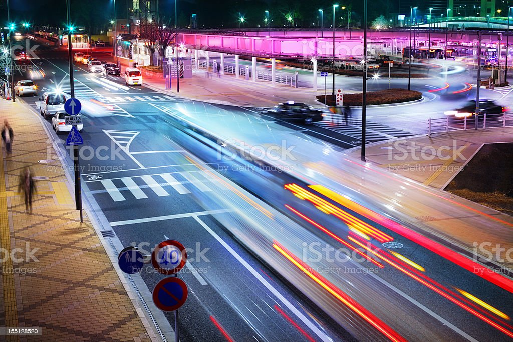Bus station royalty-free stock photo
