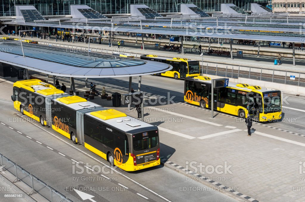 Bus Station Utrecht stock photo