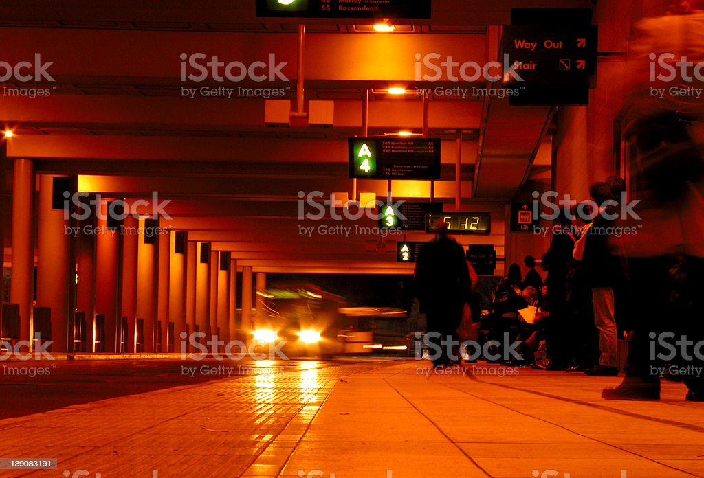 bus station - with 85b filter royalty-free stock photo