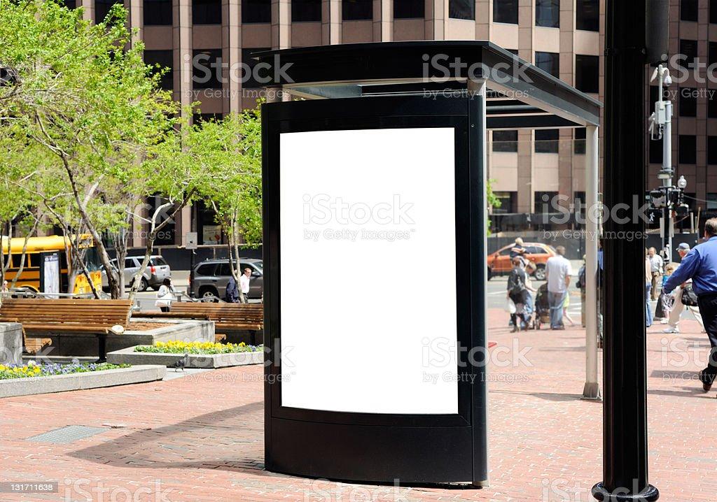 Bus Stop Billboard royalty-free stock photo