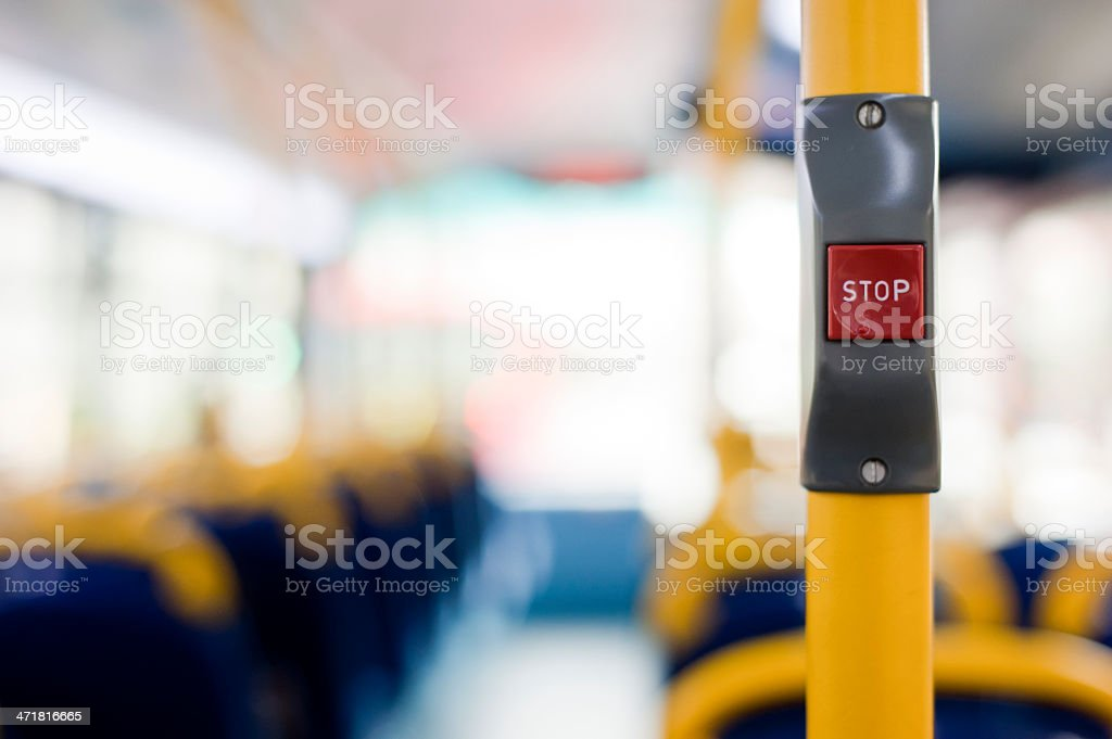 Bus Stop Button stock photo