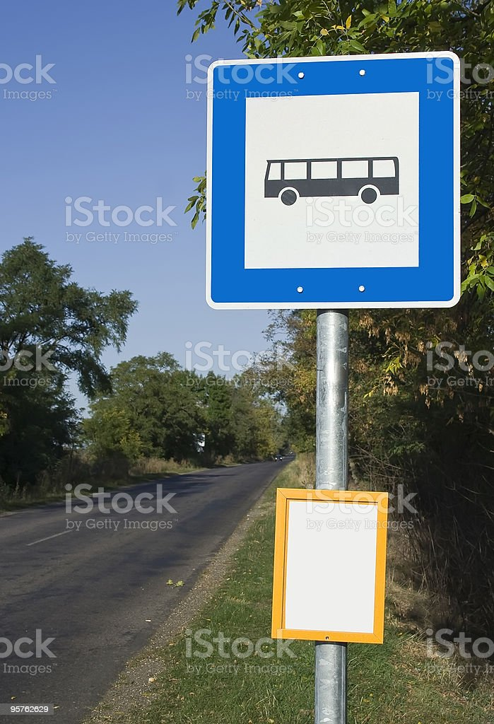bus stop in the country royalty-free stock photo