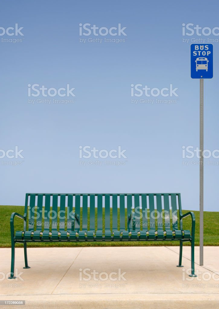 Bus Stop royalty-free stock photo