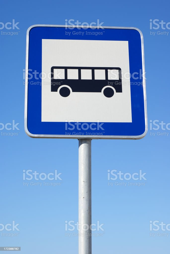 Bus stop traffic sign. royalty-free stock photo