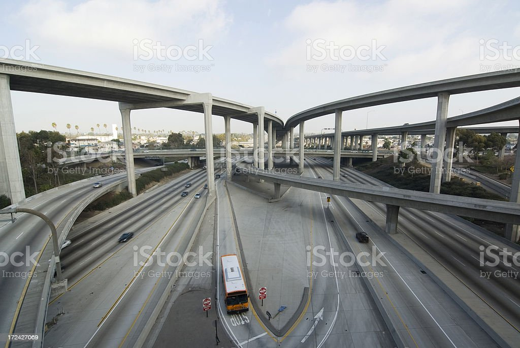 Bus stopping royalty-free stock photo