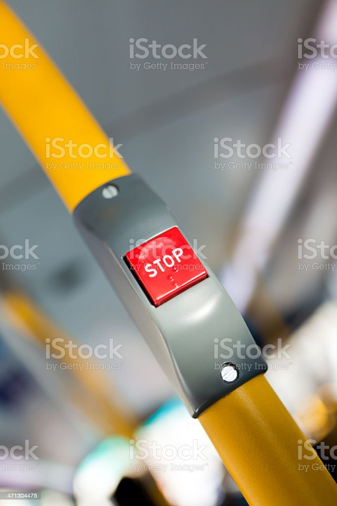 Bus Stopping stock photo