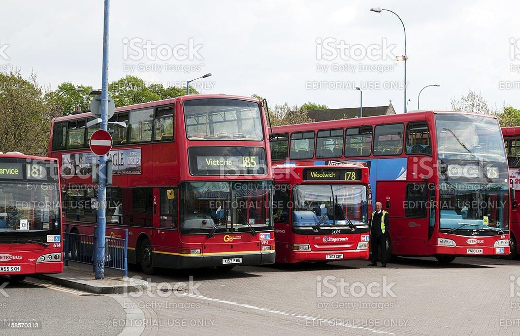 Bus terminus stock photo