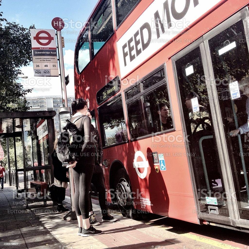 Bus to Waterloo, London royalty-free stock photo