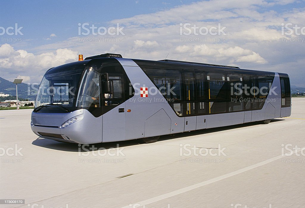 Bustransfer airport royalty-free stock photo