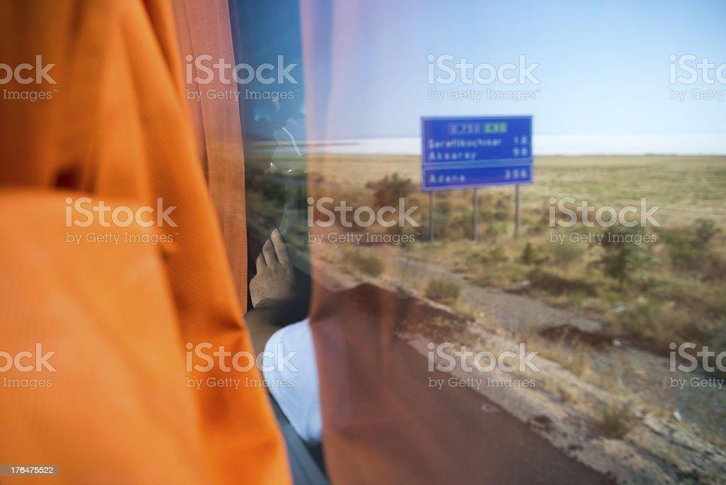 Bus travel in Turkey royalty-free stock photo