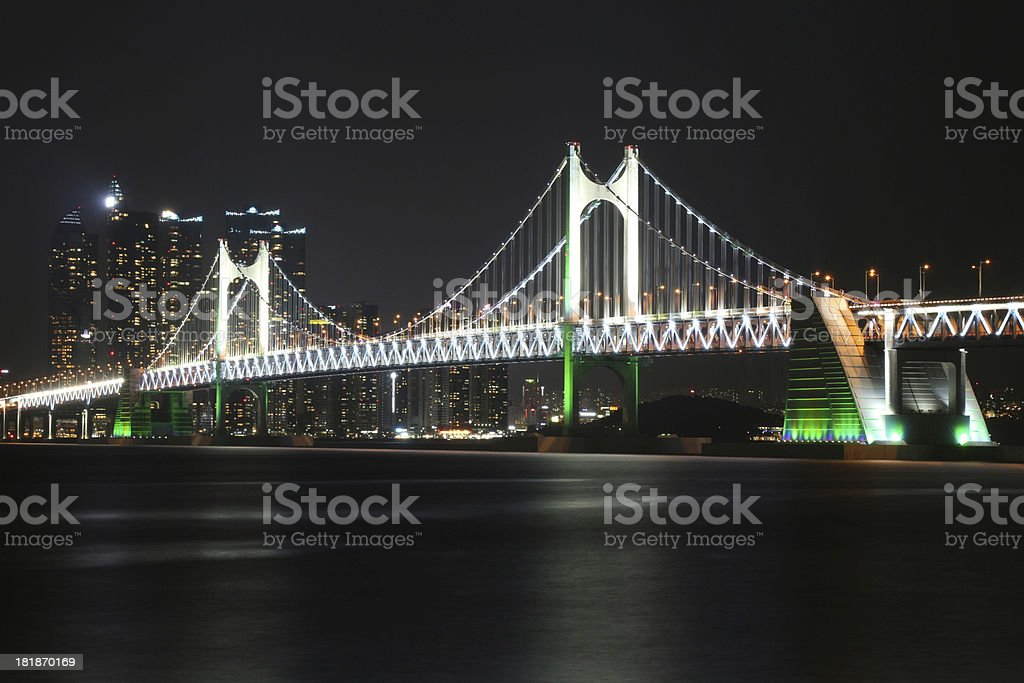 Busan Gwangan Bridge South Korea royalty-free stock photo