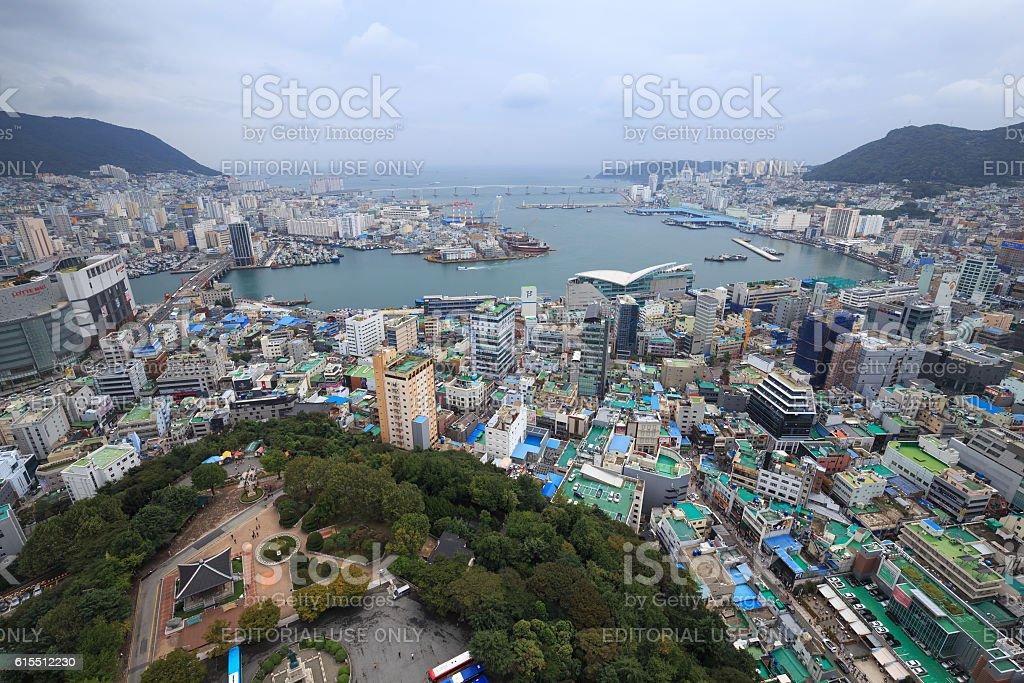 Busan Metropolitan City high view royalty-free stock photo