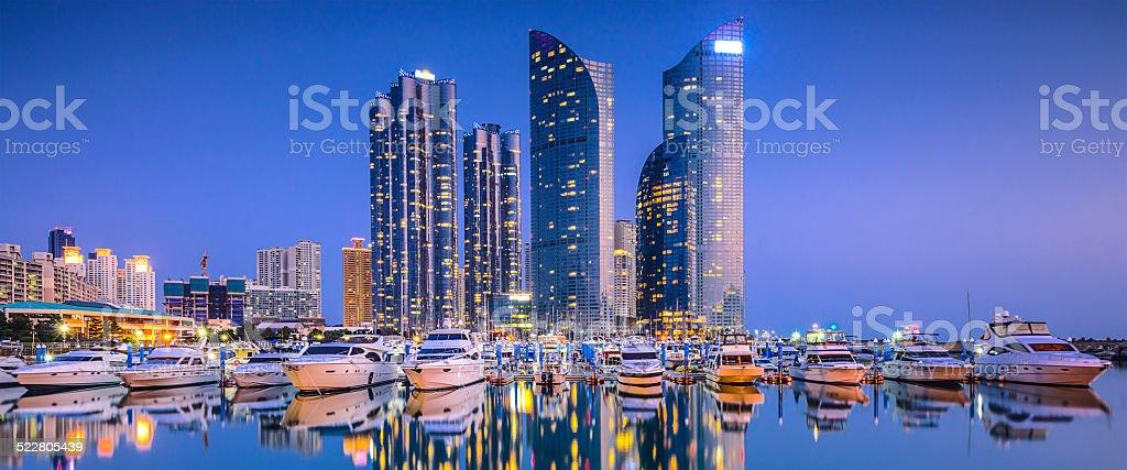 Busan, South Korea Cityscape Panorama stock photo