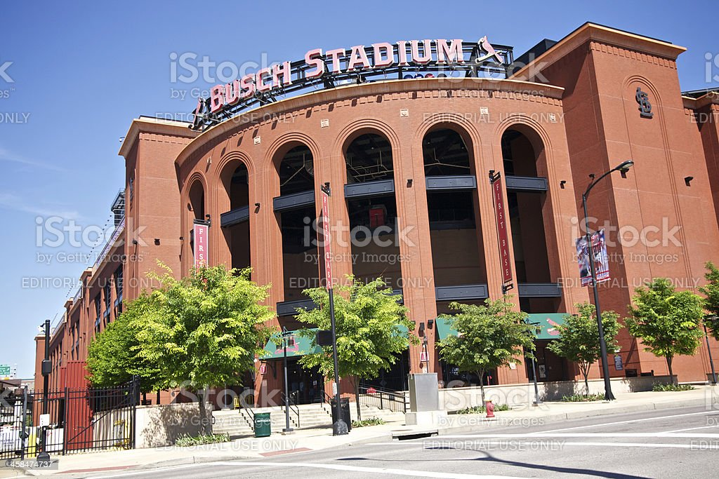 Busch Stadium stock photo