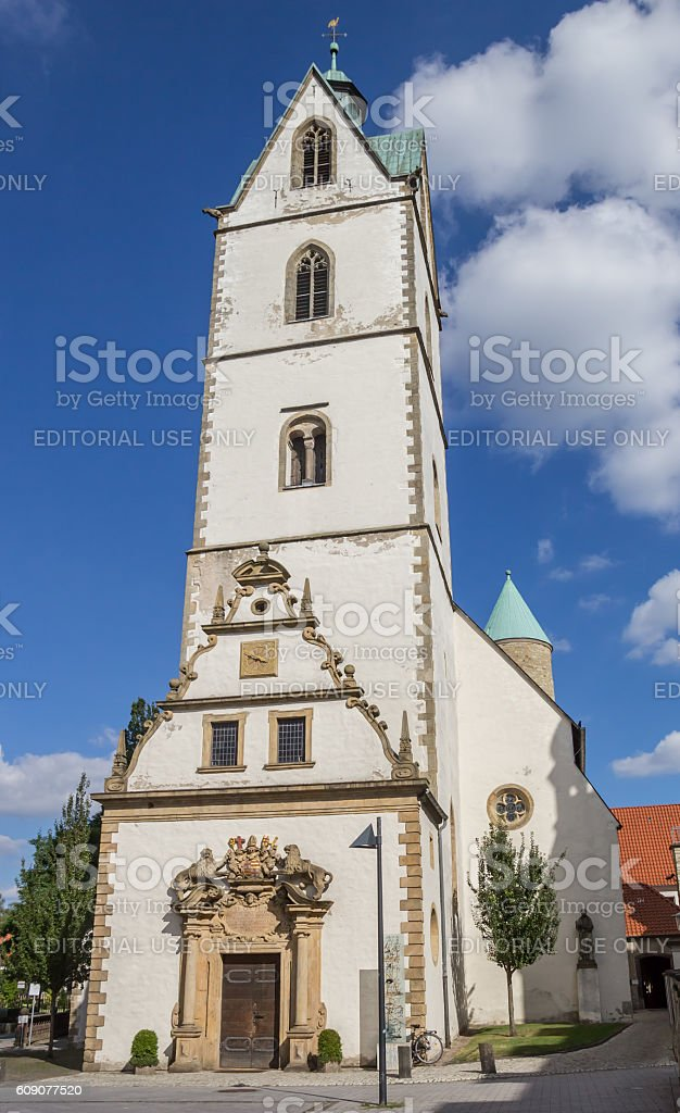 Busdorf Church in the historical center of Paderborn stock photo