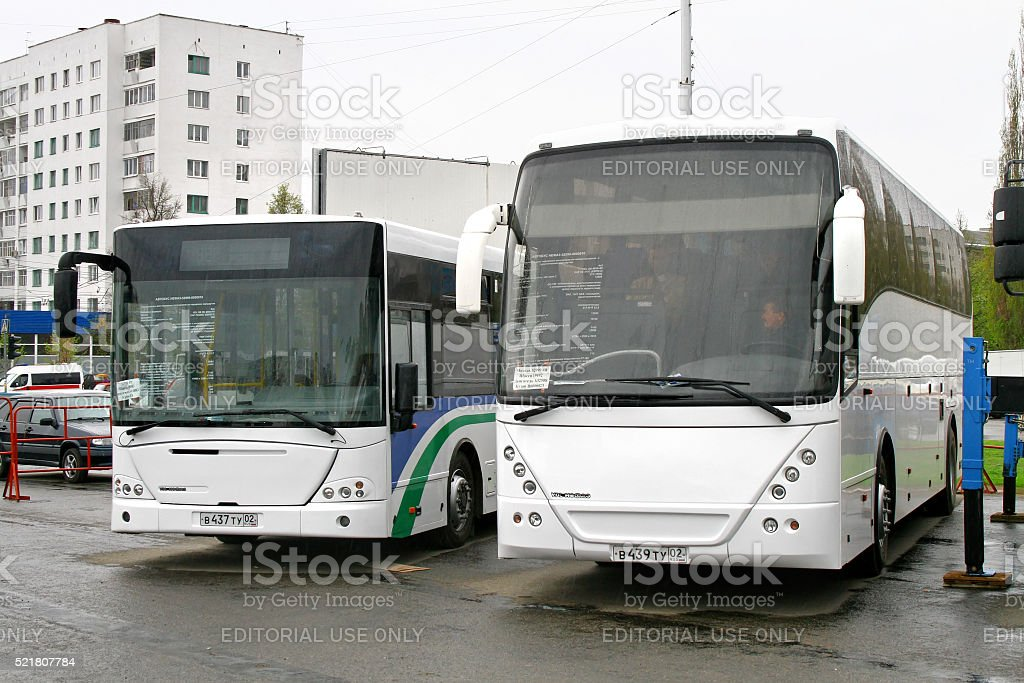 Buses stock photo