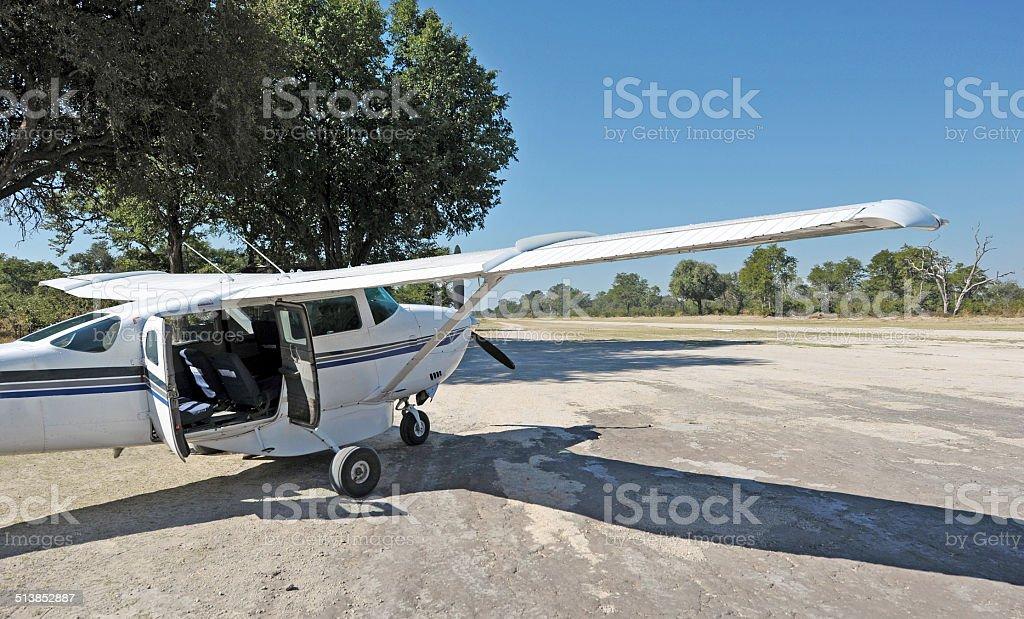 Bush plane, Botswana stock photo