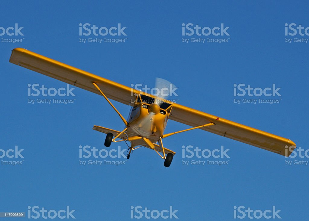 Bush plane on wheels stock photo