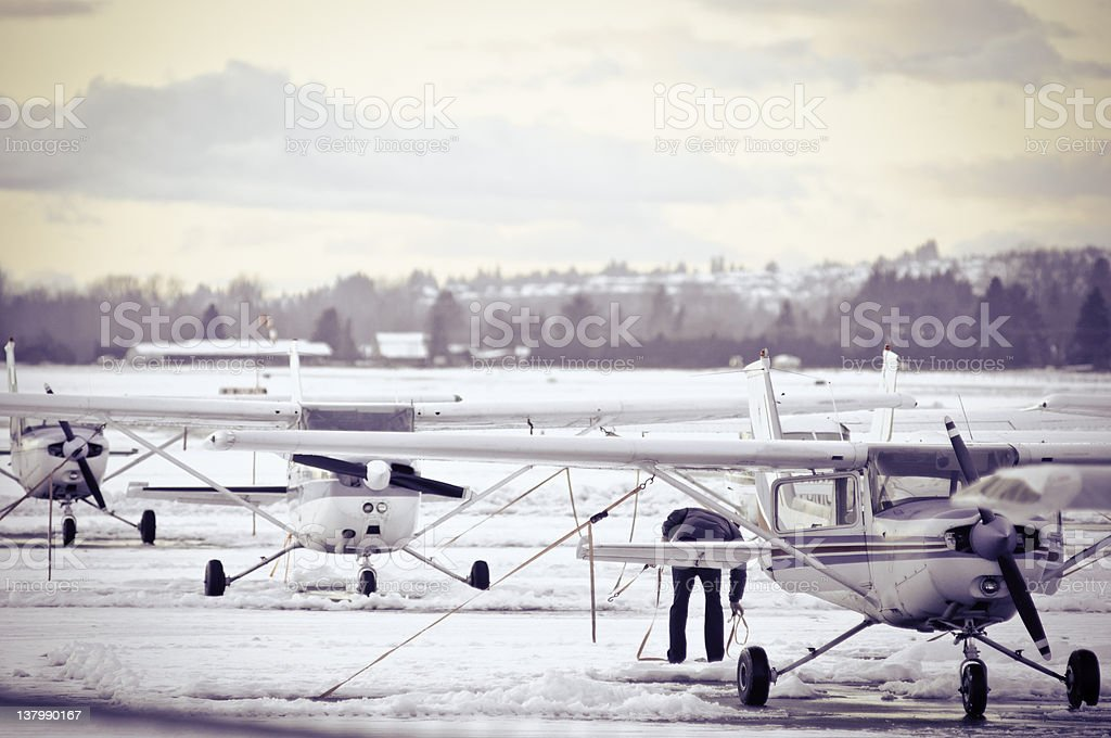 Bush planes stock photo