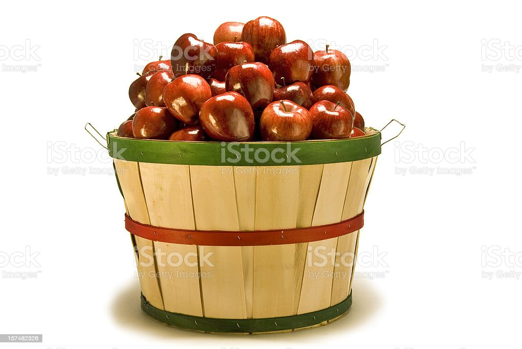 Bushel Basket of Apples stock photo