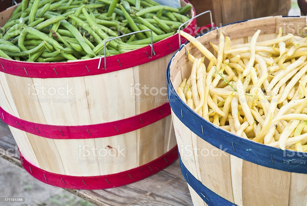 Bushel Baskets of Beans royalty-free stock photo