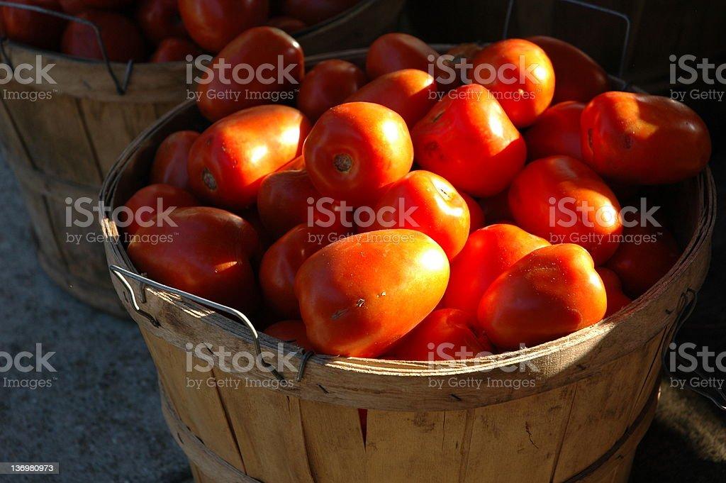 Bushel of Tomatoes stock photo
