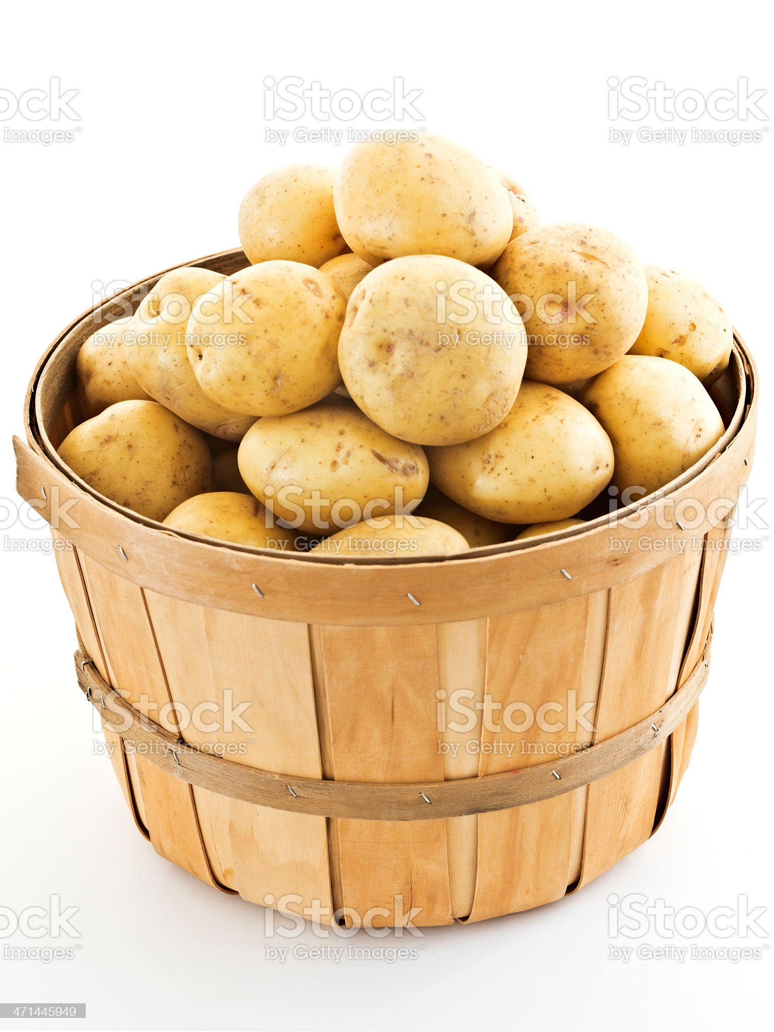 bushel of yukons royalty-free stock photo