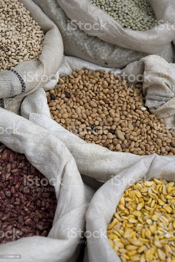 Bushels in Otavalo stock photo