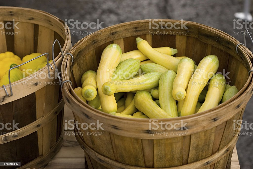 Bushels of Organic Squash stock photo