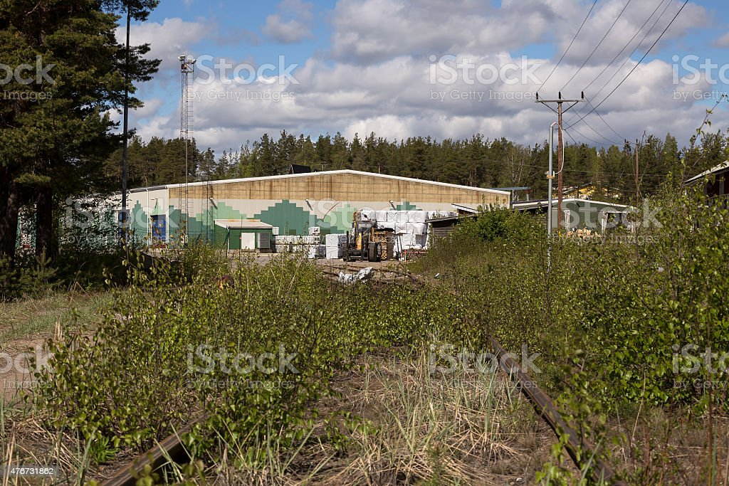 Bushes in front of the industry royalty-free stock photo
