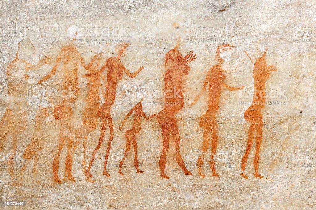 Bushman cave painting royalty-free stock photo