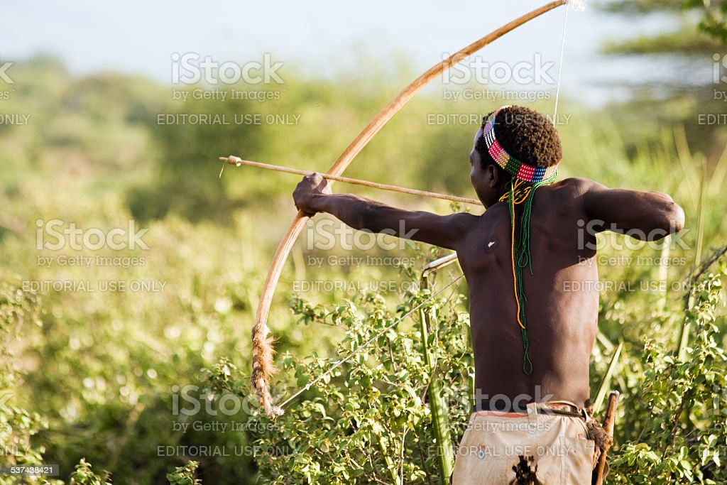 Bushman Hadzabe stock photo