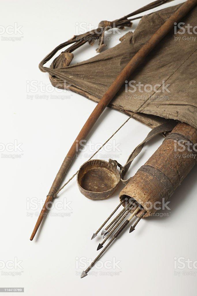 Bushman hunting kit stock photo