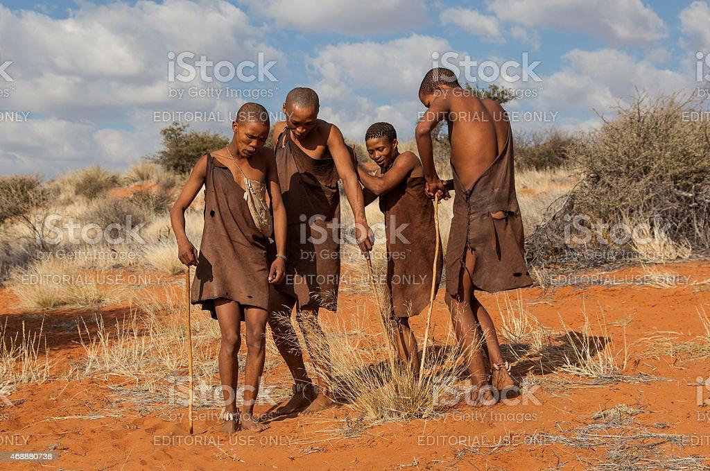 Bushmen stock photo