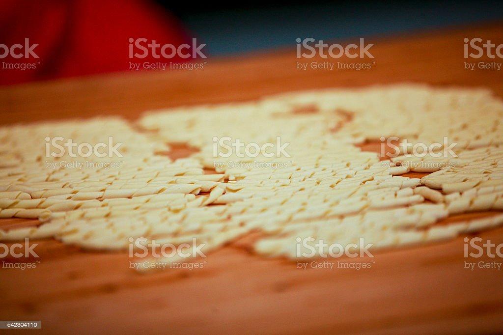 busiate, busiata, busiati, preparation, cook, kitchen, Food and stock photo