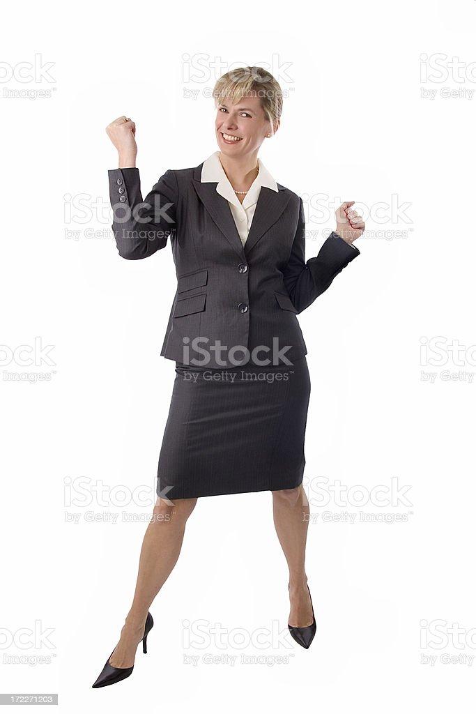 Busiess Woman Cheer 1 royalty-free stock photo