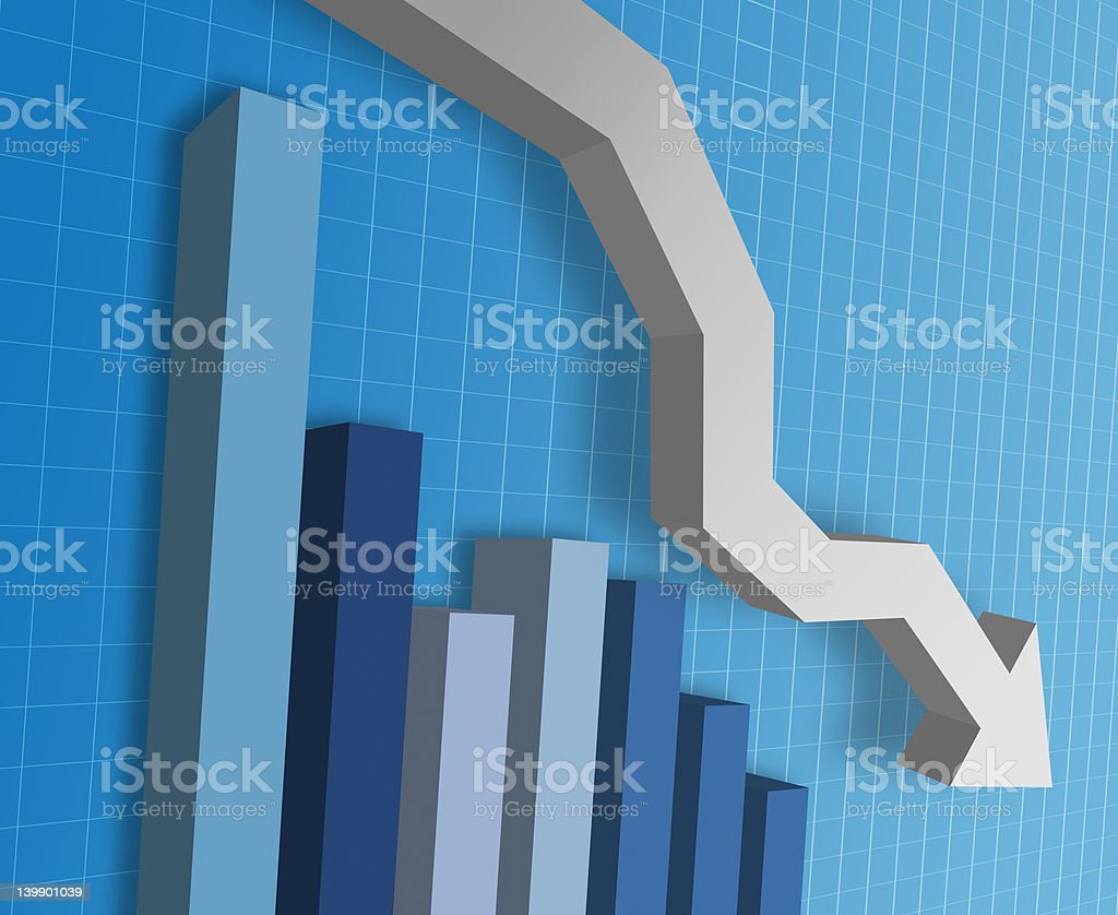 Busines Graph royalty-free stock photo