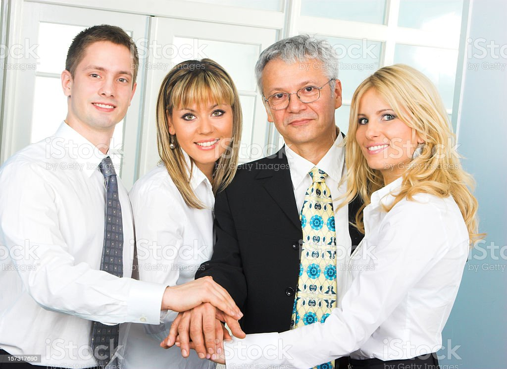 Busines people in office stock photo