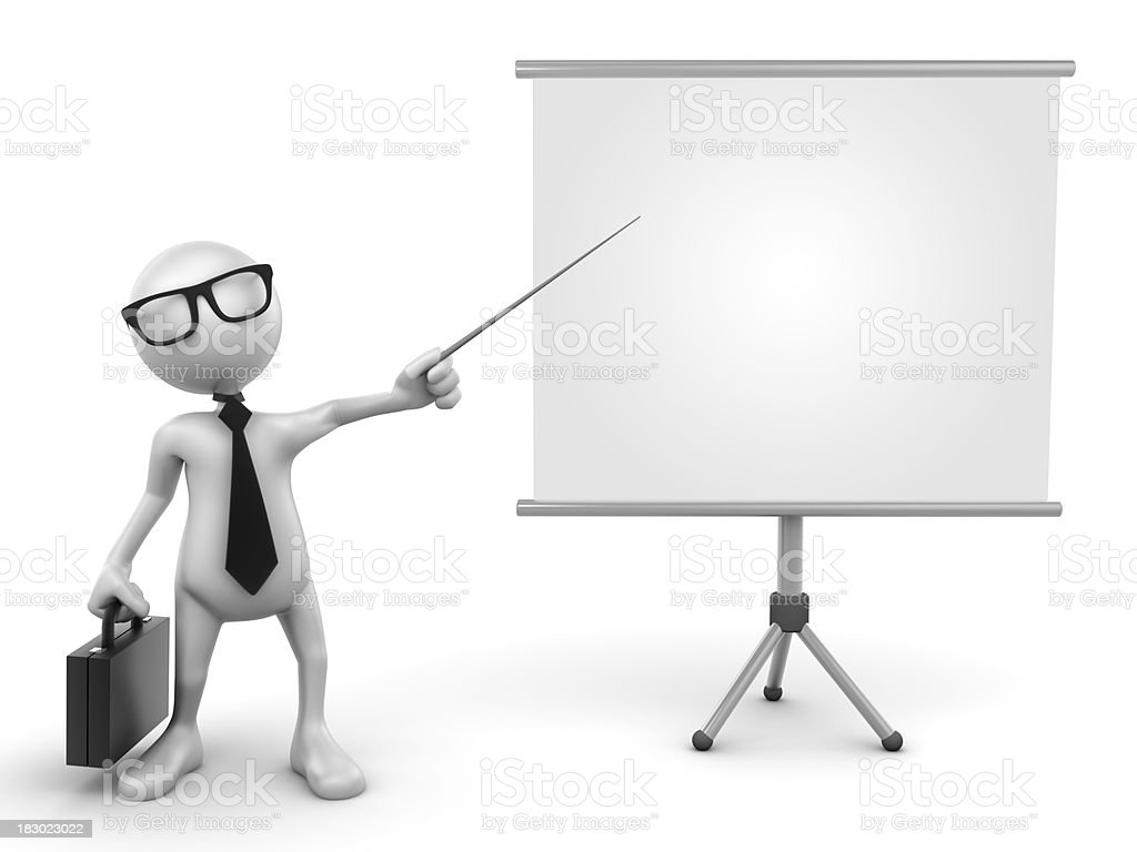 Busines presentation, isolated with clipping path royalty-free stock photo
