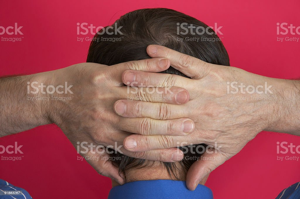 businesman on the rest stock photo