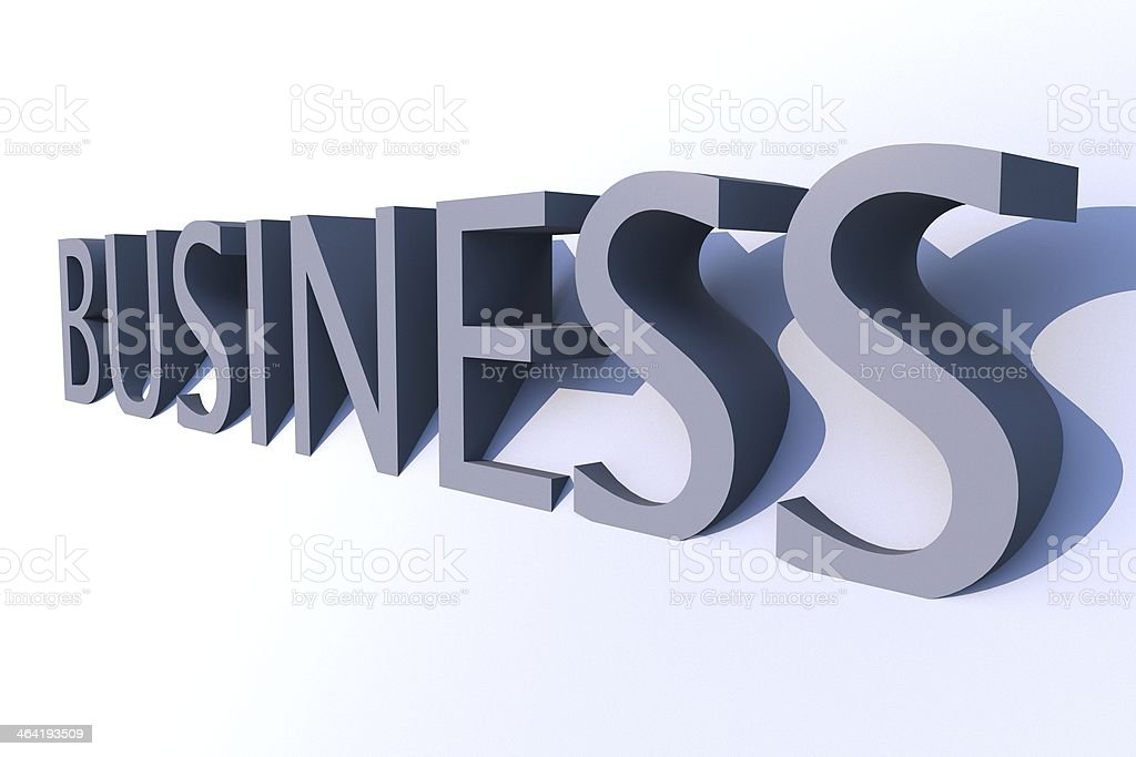 Business 3D stock photo