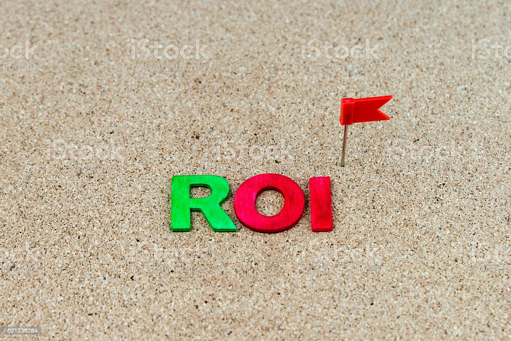 Business Abbreviation ROI as Return On Investment stock photo