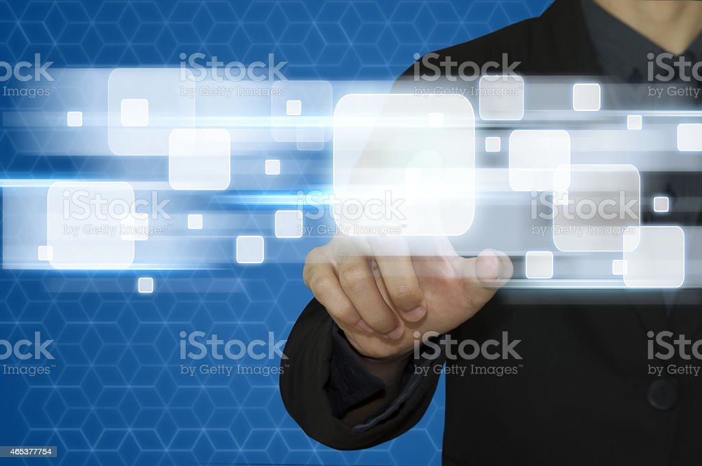 Business abstract  press technology. stock photo