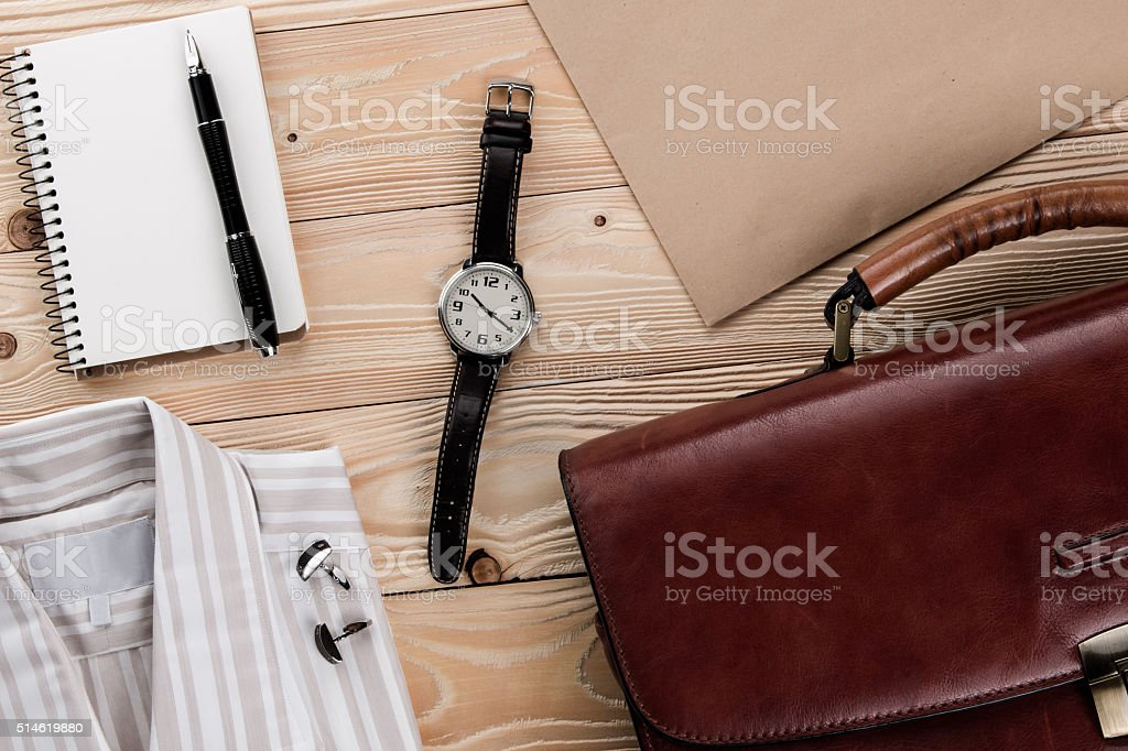 business accessories and Businessman outfit stock photo