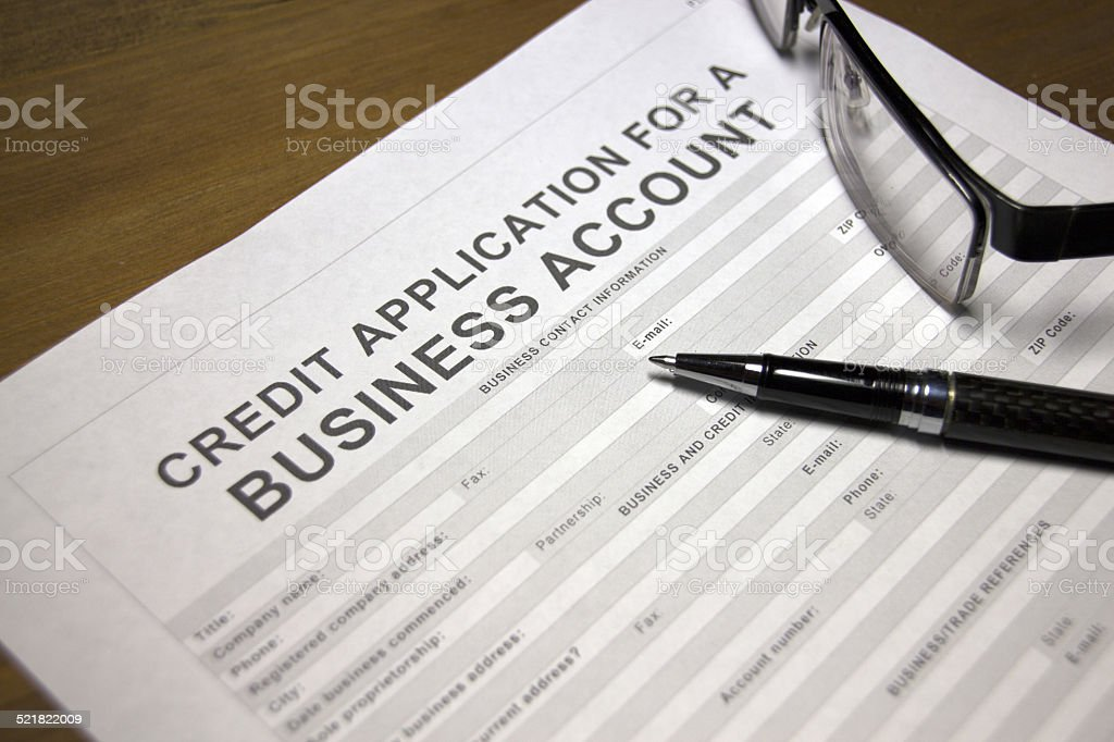Business account credit stock photo