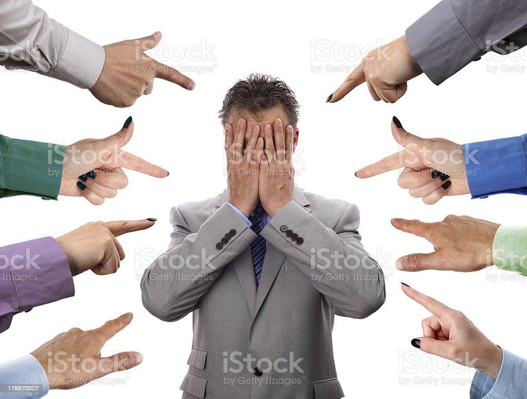 Business accusations stock photo