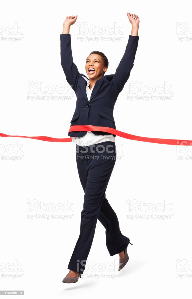 Business Achievement - Isolated royalty-free stock photo