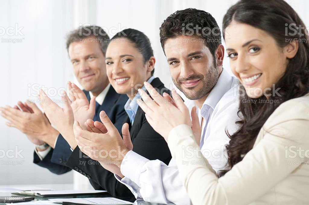 Business achievement stock photo