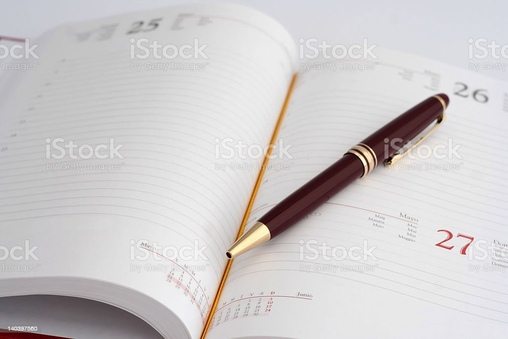 'Business', Agenda, Diary and pen royalty-free stock photo